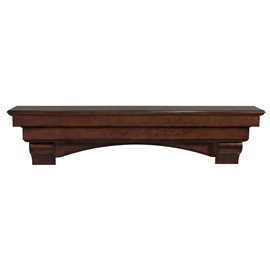 "48"" Auburn Cherry Distressed Finish Wood Shelf."