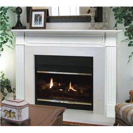"48"" Berkley MDF White Paint Wood Shelf."