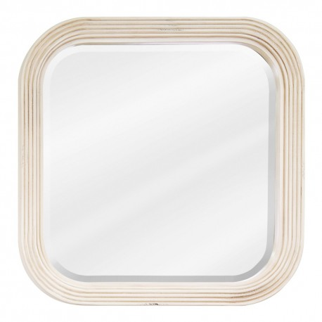 MIR014 Buttercream reed-frame mirror