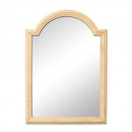 MIR028 Buttercream reed-frame mirror