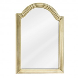 MIR028D-60 Buttercream reed-frame mirror