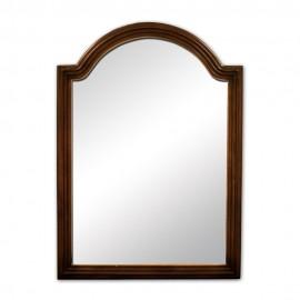 MIR029 Walnut reed-frame mirror