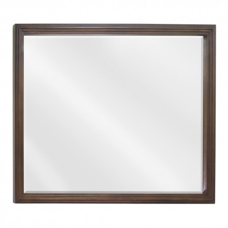 MIR029-48 Walnut reed-frame mirror