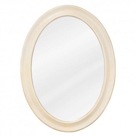 MIR061 Buttercream oval mirror