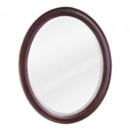 MIR067 Mahogany oval mirror