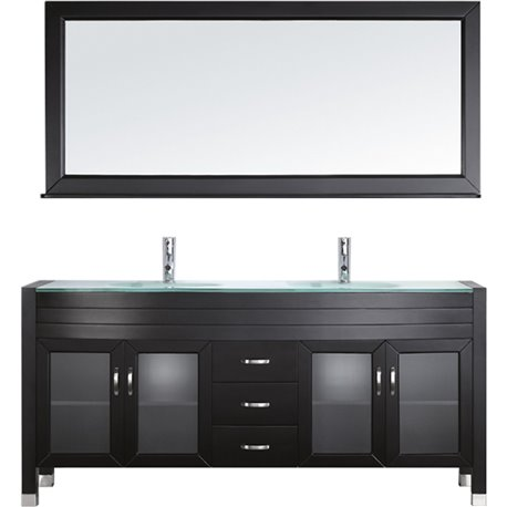 Ava 71 Double Bathroom Vanity Cabinet Set In Espresso