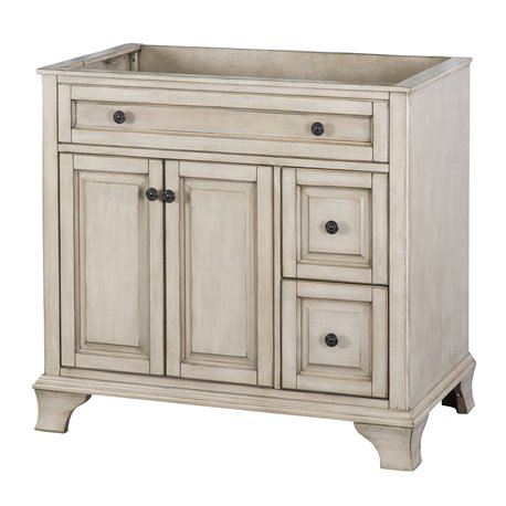 "CORSICANA 36"" VANITY - Antique Grey Finish"