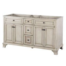 "CORSICANA 60"" VANITY - Antique Grey Finish"