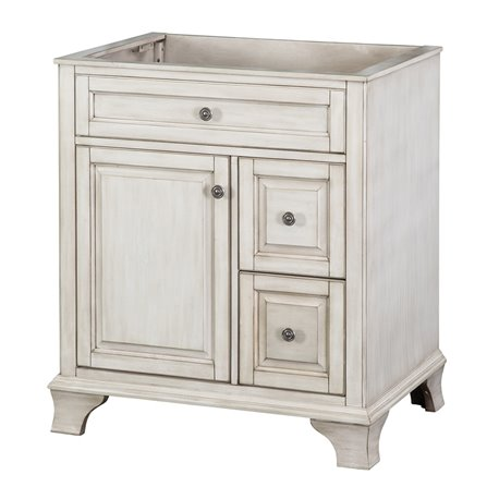 "CORSICANA 30"" VANITY - Antique White Finish"