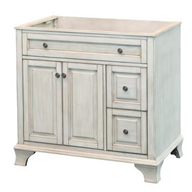 "CORSICANA 36"" VANITY - Antique White Finish"