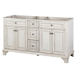 "CORSICANA 60"" VANITY - Antique White Finish"
