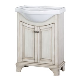 "CORSICANA 26"" EURO VANITY COMBO - Antique White Finish"