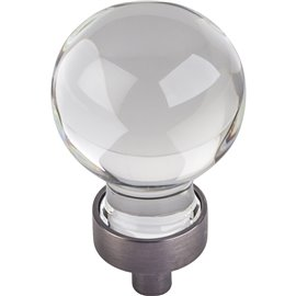 """1-1/16"""" Dia Glass Sphere Cabinet Knob. Packaged with one 8-3"""