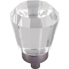 "1"" Dia Glass Tapered Cabinet Knob. Packaged with one 8-32"