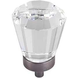 """1-1/4"""" Dia Glass Tapered Cabinet Knob. Packaged with one 8-3"""