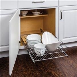 "Metal Basket Pullout Organizer for 21"" Base Cabinet Retail"