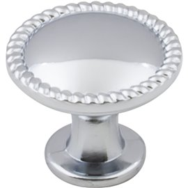"1-1/4"" Diameter Zinc Die Cast Cabinet Knob with Rope Trim."