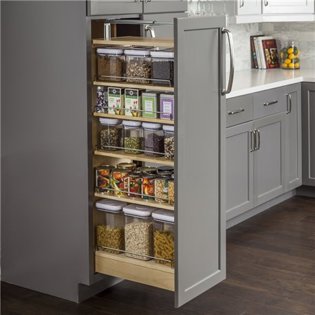 "Pantry Cabinet Pullout 5-1/2"" x 22-1/4"" x 53""."
