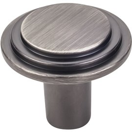 """1-1/4"""" Diameter Stepped Rounded Cabinet Knob. Packaged with"""