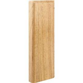 """10"""" x 3-1/2"""" x 7/8"""" Plinth Block Species: Rubberwood"""