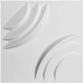 "11 7/8""W x 11 7/8""H Artisan EnduraWall Decorative 3D Wall Panel, White"