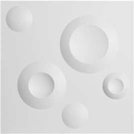 "11 7/8""W x 11 7/8""H Cole EnduraWall Decorative 3D Wall Panel, White"