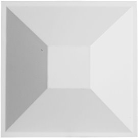 "11 7/8""W x 11 7/8""H Diane EnduraWall Decorative 3D Wall Panel, White"