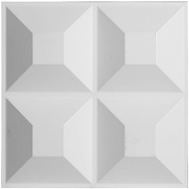 "11 7/8""W x 11 7/8""H Swindon EnduraWall Decorative 3D Wall Panel, White"