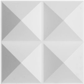 "11 7/8""W x 11 7/8""H Tirana EnduraWall Decorative 3D Wall Panel, White"