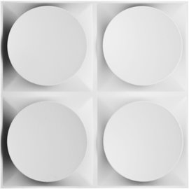 "19 5/8""W x 19 5/8""H Adonis EnduraWall Decorative 3D Wall Panel, White"