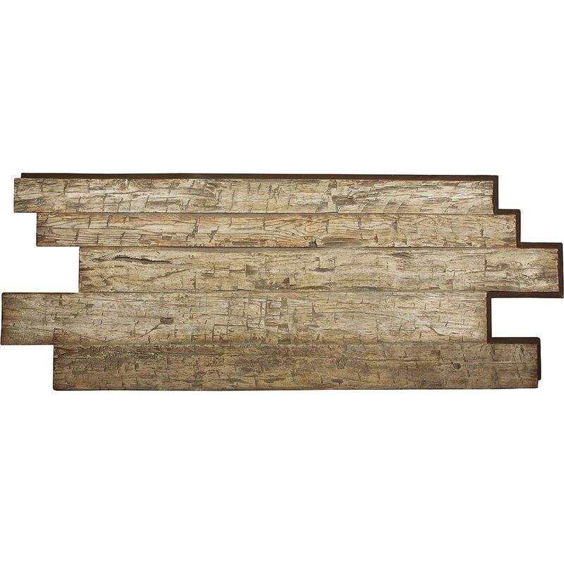 98 w x 38 h x 1 d hand hewn endurathane faux wood siding for Faux wood siding