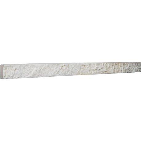 """48 1/4""""W x 3""""H x 2""""D Universal Trim for Endurathane Faux Stone & Rock Siding Panels, Dove White"""