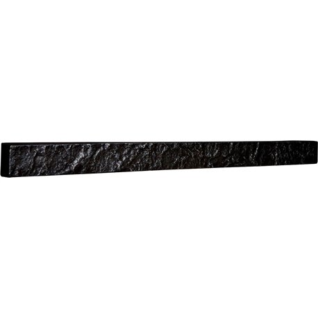 "48 1/4""W x 3""H x 2""D Universal Trim for Endurathane Faux Stone & Rock Siding Panels, Graphite"