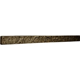 "48 1/4""W x 3""H x 2""D Universal Trim for Endurathane Faux Stone & Rock Siding Panels, Grey"