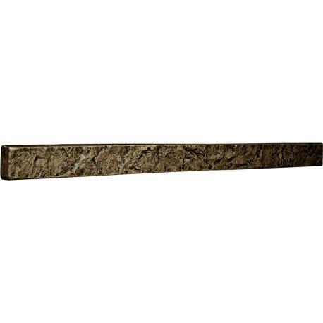 """48 1/4""""W x 3""""H x 2""""D Universal Trim for Endurathane Faux Stone & Rock Siding Panels, Grey"""
