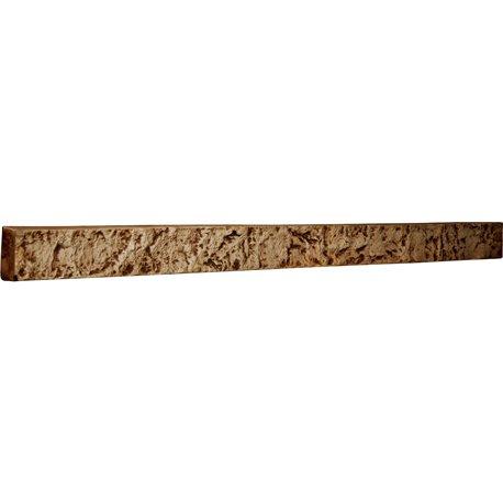 """48 1/4""""W x 3""""H x 2""""D Universal Trim for Endurathane Faux Stone & Rock Siding Panels, Geneva"""