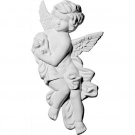 "10 5/8""W x 9 3/8""H x 1 1/8""P Pompeii Angel Corner Onlay, Right"