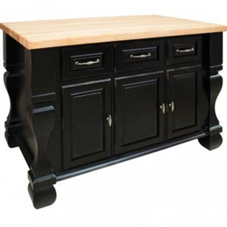 ISL01-DBK Kitchen Island