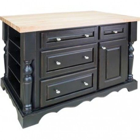 ISL02-DBK Kitchen Island