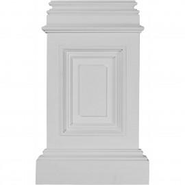 10 7/8W x 2 1/4D x 17 3/4H Classic Small Pedestal Base