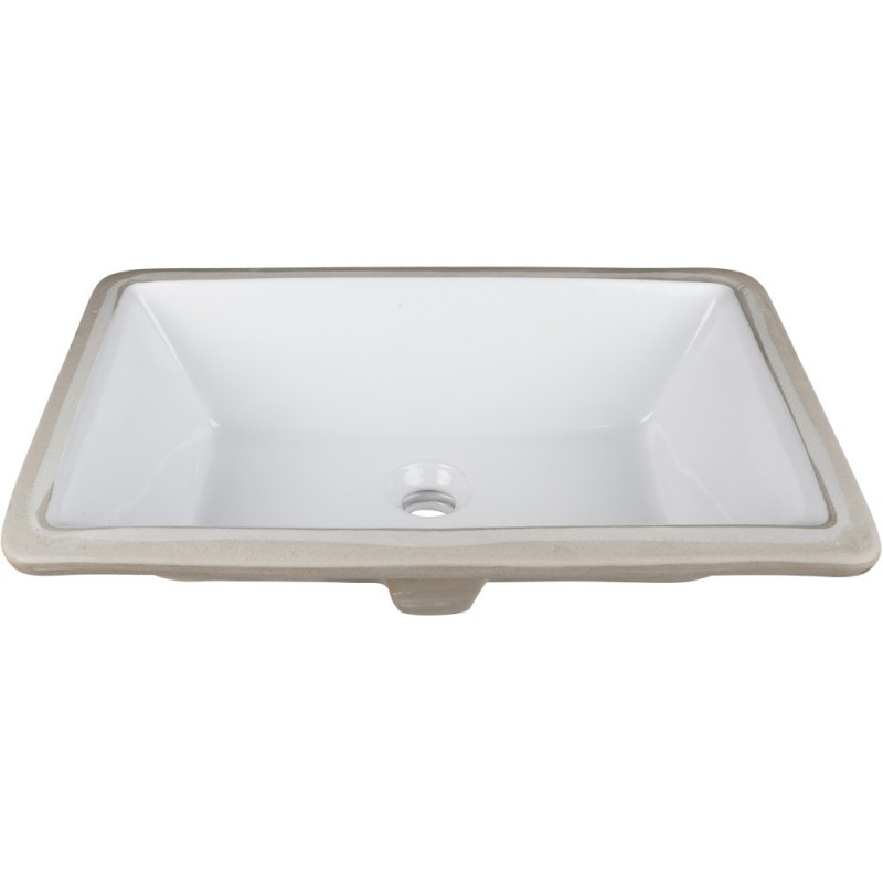 Porcelain Undermount Sink : ... > Vanity Sinks > H8910WH Undermount Porcelain Rectangle Sink Basin
