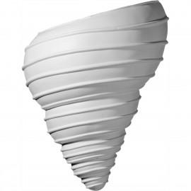 10 1/8W x 5 1/2D x 12 1/2H Spiral Shell Wall Sconce