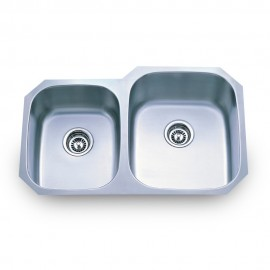 801R-2 Stainless Steel Kitchen Sink with Two Unequal Bowls