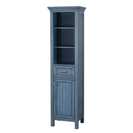 BRANTLEY 19″ X 70″ LINEN CABINET - Harbor Blue Finish