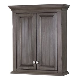 BRANTLEY 24″ X 28″ WALL CABINET - Distressed Grey Finish