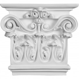 7 1/2W x 8 1/2H x 2 1/2P Classic Ionic Large Onlay Capital