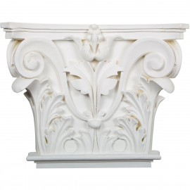 16 1/2W x 13 5/8H x 3 3/4P Acanthus Leaf Onlay Capital