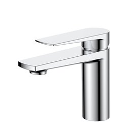Aqua Letti Single Lever Bathroom Vanity Faucet - Chrome