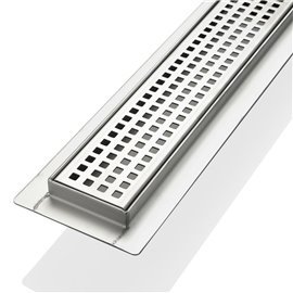 """Kube 27.5"""" Linear Drain with Pixel Grate"""