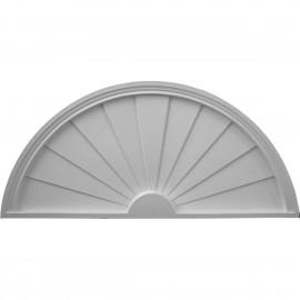 40W x 20H x 2P Half Round Sunburst Pediment